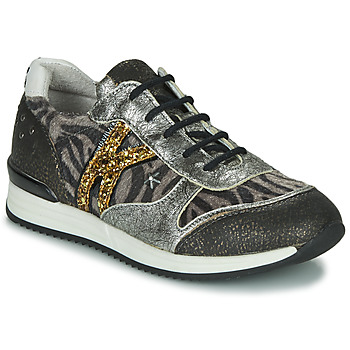 Zapatos Niña Zapatillas bajas Ikks WHITNEY Gris / Dorado