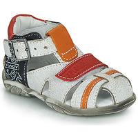 Zapatos Niño Sandalias GBB MELVIL Blanco / Rojo / Naranja