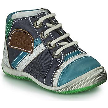 Zapatos Niño Botas de caña baja Catimini CIGOGNE Azul / Verde