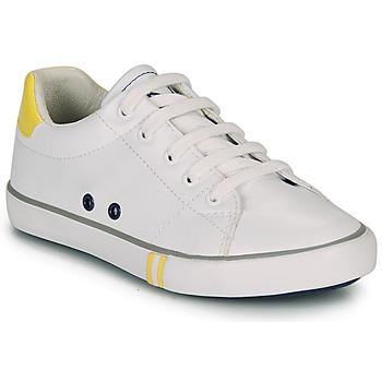 Zapatos Niño Zapatillas bajas Ikks WILLIAM Blanco / Amarillo
