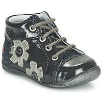 Zapatos Niña Botas de caña baja GBB NEIGE Marino / Plata