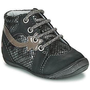 Zapatos Niña Botas de caña baja GBB NOEMIE Negro / Plata
