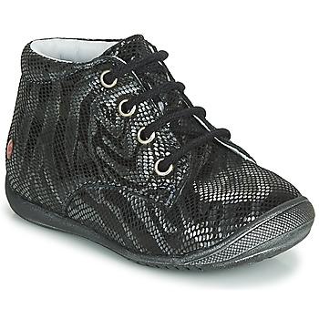Zapatos Niña Botas de caña baja GBB NAOMI Negro / Plata