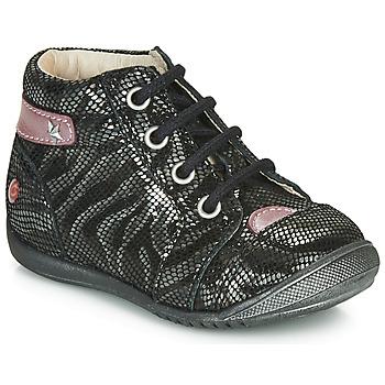 Zapatos Niña Botas de caña baja GBB NICOLE Negro / Plata