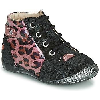 Zapatos Niña Botas de caña baja GBB NICOLE Negro / Rosa