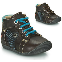 Zapatos Niño Botas de caña baja GBB NATALE Marrón / Azul