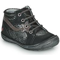 Zapatos Niña Botas de caña baja GBB NORA Negro / Plata