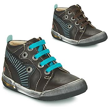 Zapatos Niño Zapatillas altas GBB NOAH Marrón / Azul