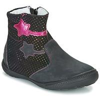 Zapatos Niña Botas de caña baja GBB NADIA Negro / Rosa