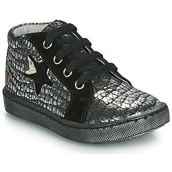 Zapatos Niña Zapatillas altas GBB LETO Negro / Plateado