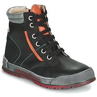 Zapatos Niño Botas de caña baja Achile MANUEL Negro / Naranja