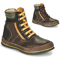 Zapatos Niño Botas de caña baja Achile MANUEL Marrón / Amarillo