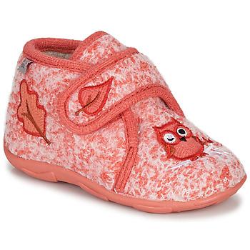 Zapatos Niña Pantuflas GBB NEOPOLO Rosa / Rojo