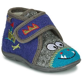 Zapatos Niño Pantuflas GBB NASTRIANO Azul / Gris