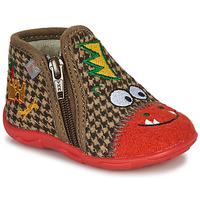 Zapatos Niño Pantuflas GBB NEREO Rojo / Marrón