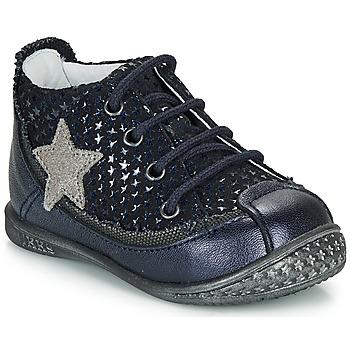 Zapatos Niña Botas de caña baja Ikks SYDNEY Marino / Plata