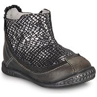 Zapatos Niña Botas de caña baja Ikks SCARLET Negro / Plata
