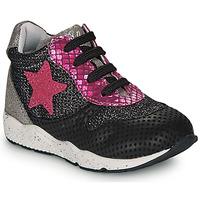 Zapatos Niña Zapatillas bajas Ikks KAREN Negro / Rosa