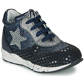 Zapatos Niña Zapatillas bajas Ikks KAREN Azul / Plata