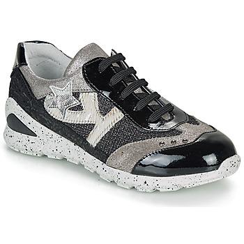 Zapatos Niña Zapatillas bajas Ikks FIONA Negro / Plata