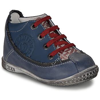 Zapatos Niño Botas de caña baja Ikks STEVEN Marino / Rojo