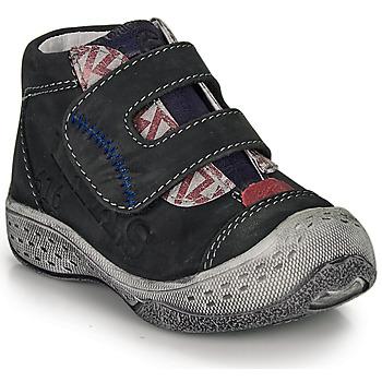 Zapatos Niño Botas de caña baja Ikks VICTOR Negro / Rojo