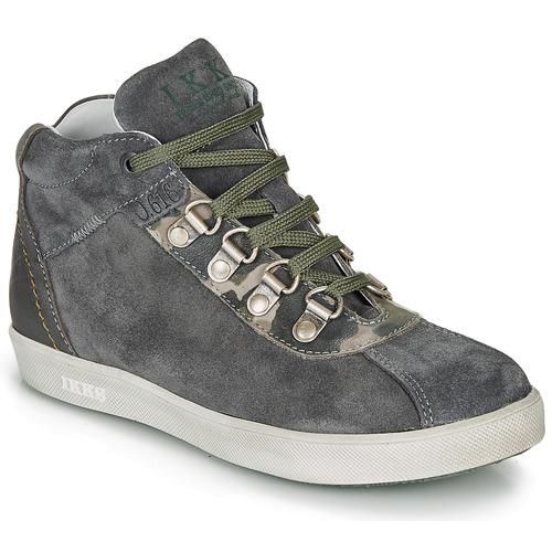 Zapatos Niño Botas de caña baja Ikks ISAAC Gris / Kaki