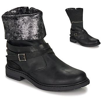 Zapatos Niña Botas urbanas Ikks FLORA Negro / Plata