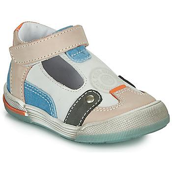 Zapatos Niño Sandalias GBB PERCEVAL Blanco / Beige / Azul