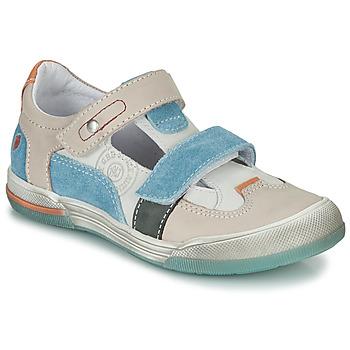 Zapatos Niño Sandalias GBB PRINCE Crudo / Beige / Azul