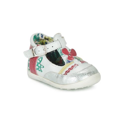 Zapatos Niña Sandalias Catimini PALOMINO Blanco / Rosa