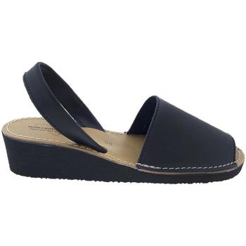 Zapatos Sandalias Huran Sandalias Menorquinas Cuña Negro Negro