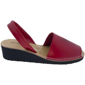 Zapatos Sandalias Huran Sandalias Menorquinas Cuña Rojo Rojo
