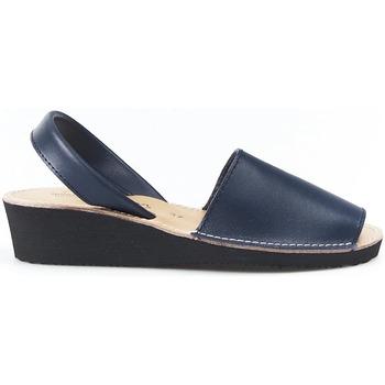 Zapatos Sandalias Huran Sandalias Menorquinas Cuña Marino Azul
