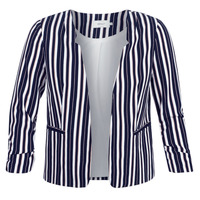 textil Mujer Chaquetas / Americana Only ONLPIPER Marino / Blanco