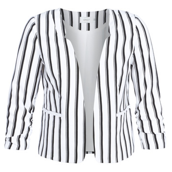 textil Mujer Chaquetas / Americana Only ONLPIPER Blanco / Negro