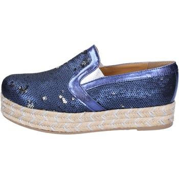 Zapatos Mujer Alpargatas Olga Rubini slip on azul textil lentejuelas BS110 azul