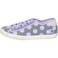 Zapatos Mujer Zapatillas bajas Date sneakers gris textil púrpura ap561 gris