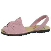 Zapatos Mujer Sandalias Avarca Cayetano Ortuño Menorquina ante lazo Rosa