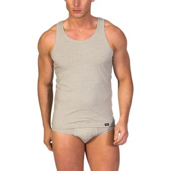 textil Hombre camisetas sin mangas Zd Zero Defects Camiseta interior de hombre ZD de tirantes de soja Piedra