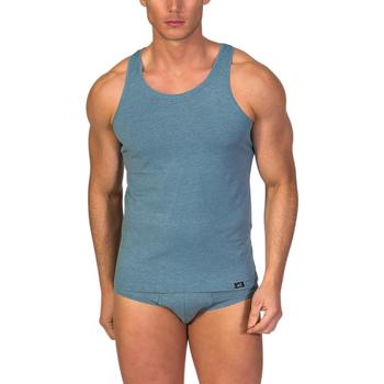 textil Hombre camisetas sin mangas Zd Zero Defects Camiseta interior de hombre ZD de tirantes de soja Azul