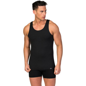 textil Hombre camisetas sin mangas Zd Zero Defects Camiseta interior de hombre ZD de tirantes de soja Negro