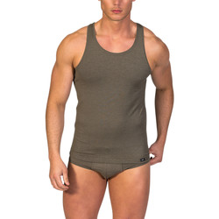 textil Hombre camisetas sin mangas Zd Zero Defects Camiseta interior de hombre ZD de tirantes de soja Alga