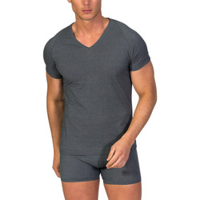 textil Hombre camisetas manga corta Zd Zero Defects Camiseta interior de hombre ZD de manga corta Gris