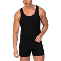 textil Hombre camisetas sin mangas Zd Zero Defects Camiseta interior de hombre ZD de tirantes Negro