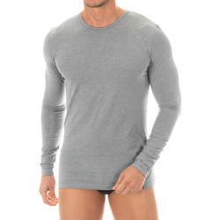 textil Hombre Camisetas manga larga Zd Zero Defects Camiseta interior de hombre ZD de manga larga Gris