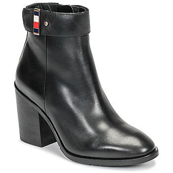 Zapatos Mujer Botines Tommy Hilfiger CORPORATE HARWARE BOOTIE Negro