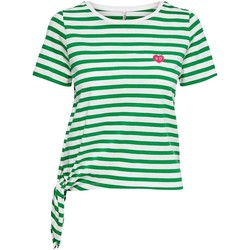 textil Mujer Camisetas manga corta Only onlBRAVE S/S KNOT TOP Verde