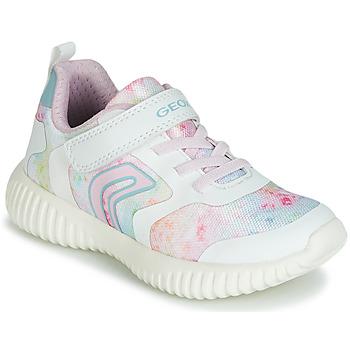 Zapatos Niña Zapatillas bajas Geox WAVINESS Blanco