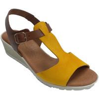 Zapatos Mujer Sandalias Rodri Sandalia mujer combinada amarillo y cuer amarillo